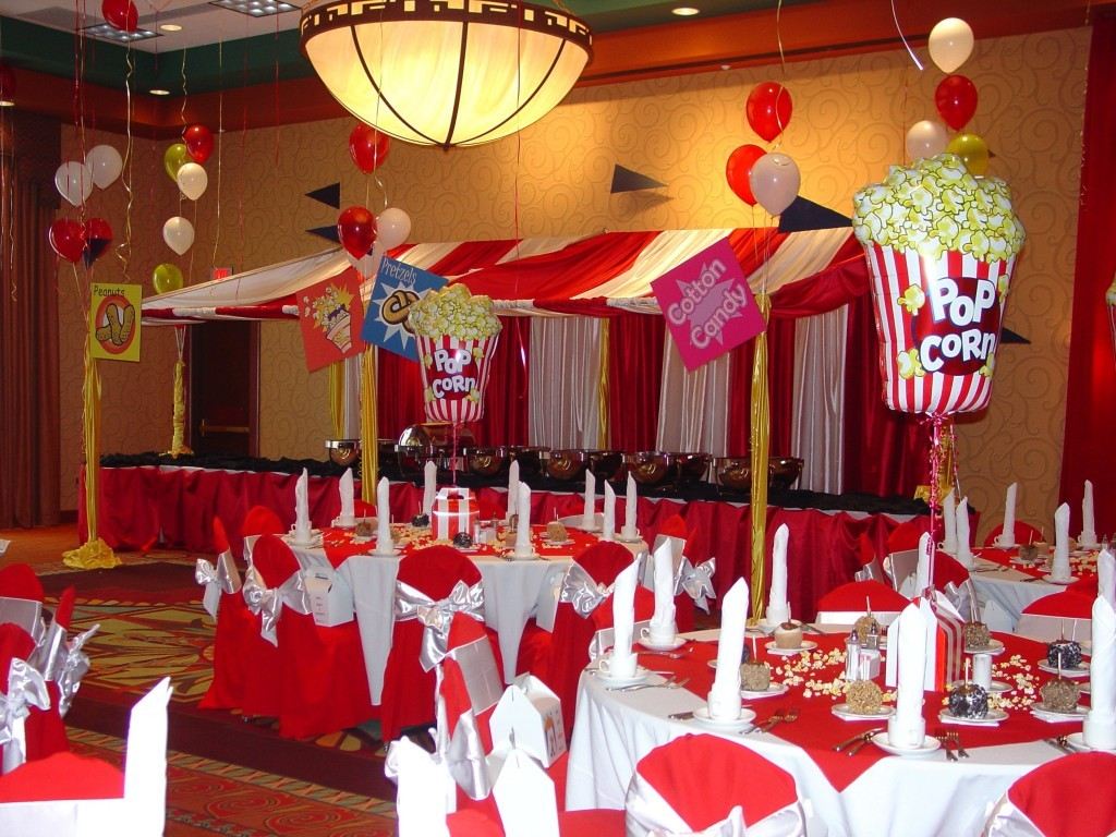 circus themed party schoolball prom